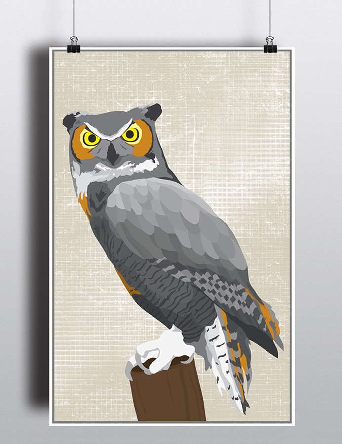 Great Horned Owl Poster by life lurking