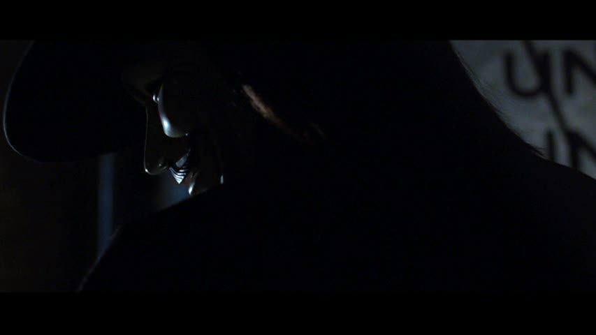 Screen shots from V for Vendetta