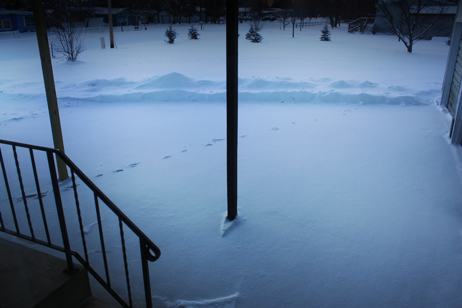 Brainerd Minnesota after Winter Storm Caesar