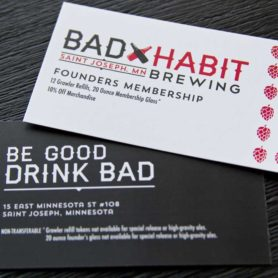 Bad Habit Business Card Design