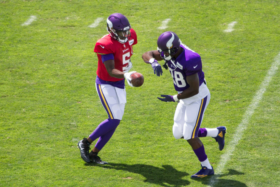 Teddy Bridgewater Adrian Peterson Vikings Football 2016