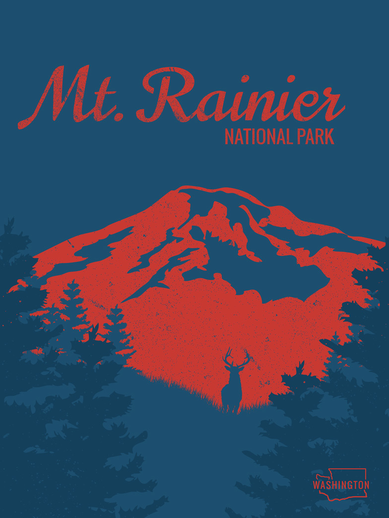 Life Lurking Mt. Rainier National Park Poster