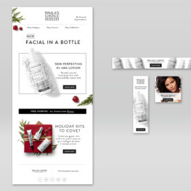 Life Lurking Design and Photography Paula's Choice Skincare Email & Banner Ad Mockup