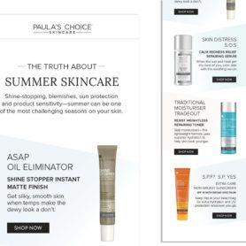 Email Designed For Paula's Choice Skincare