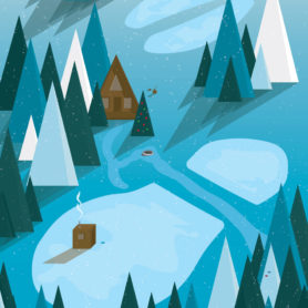 Life Lurking Posters Paul Bunyan Winter Footprints
